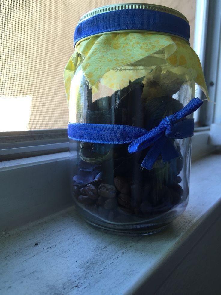 Potpourri Mason Jar with ribbon