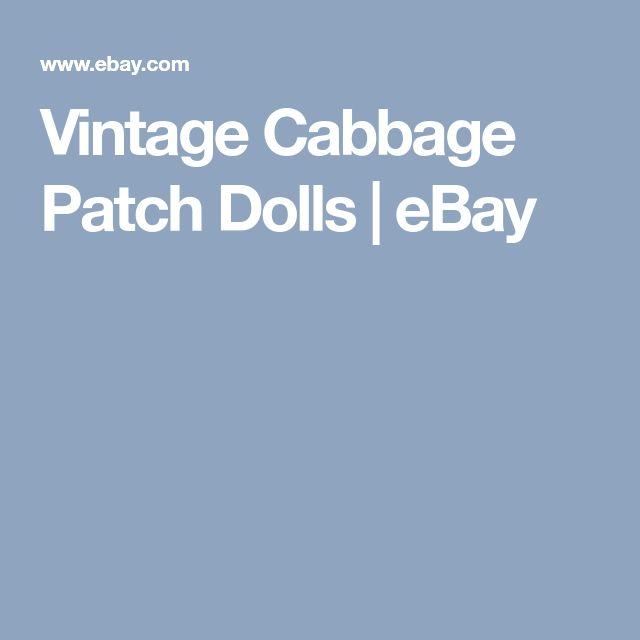 Vintage Cabbage Patch Dolls | eBay