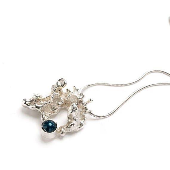 Silver pendant / necklace  salt casting