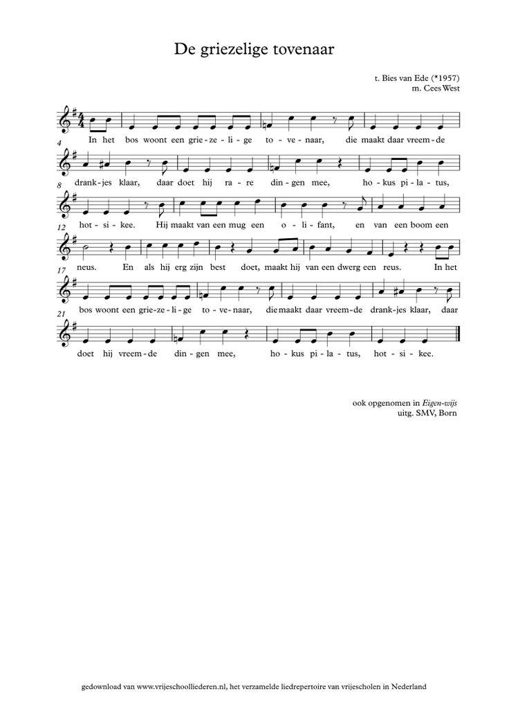 De griezelige tovenaar | Vrijeschoolliederen