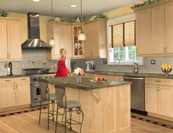 Kitchen Designs, The Phenomenal Woman In A White And Red Shirt Is Cooking A  Yummy Meal In A Kathy Test Kitchen: Virtual Kitchen Design Tool .