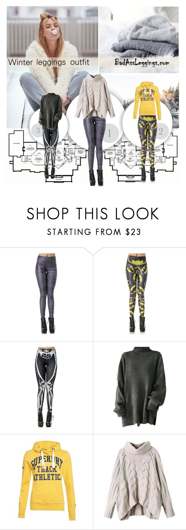 """Winter leggings outfit"" by pinki1994 ❤ liked on Polyvore featuring Home Source International, Free People, 291 Venice, Superdry and badassleggings"