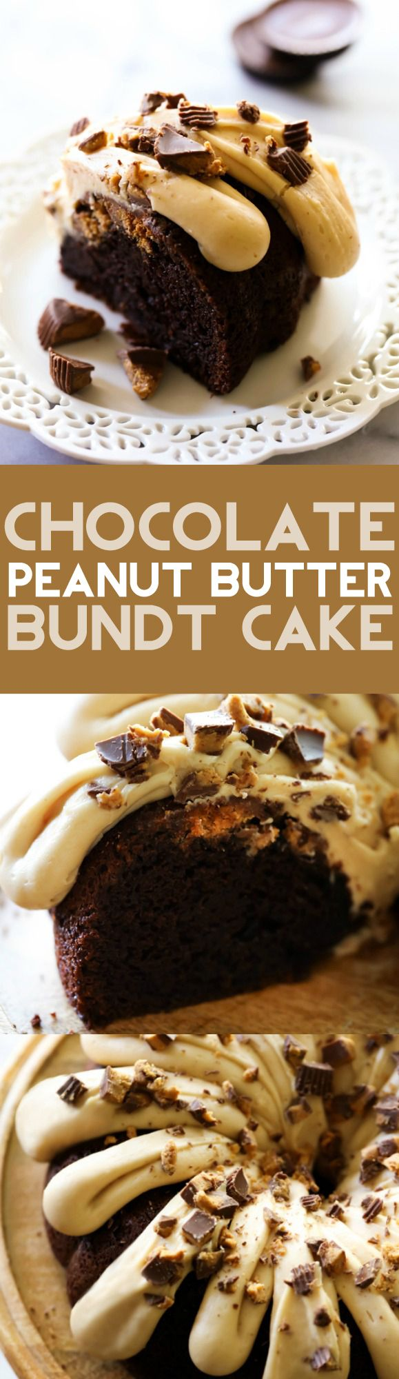 This Chocolate Peanut Butter Bundt Cake is super moist and delicious ...