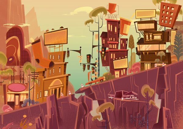 DISNEY PITCH by James Gilleard, via Behance