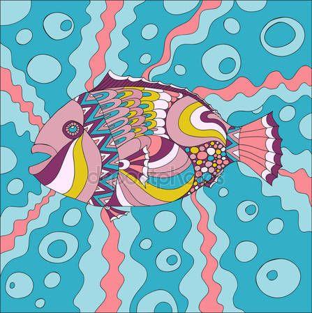 Скачать - Эскиз морской жизни элементов. Рисованной каракулей — стоковая иллюстрация #134602142