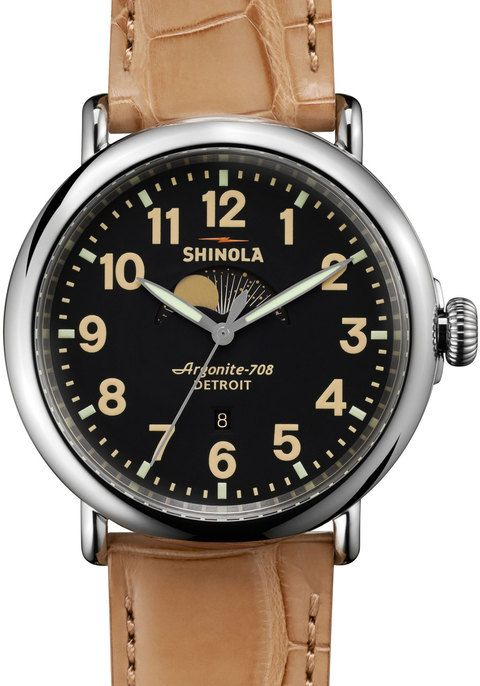Shinola Runwell Moon Phase 47mm, Tan Alligator Strap watch is now available on Watches.com. Free Worldwide Shipping & Easy Returns. Learn more.
