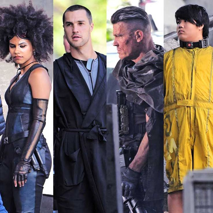 New Deadpool characters Josh Brolin aka Cable and Zazie Beetz aka Domino were pictured on set of the new movie as they filmed scenes in Vancouver, Canada. The two of them were joined by two other new characters on set both in zip up suits. Visit our website for ALL the pics © Atlantic Images / MEGA
