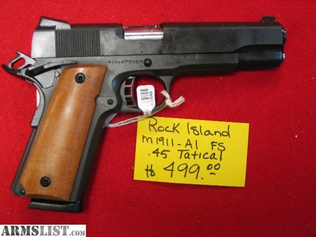 RIA M1911 pistol | ... - For Sale: ROCK ISLAND M1911-A1 TACTICAL SF .45 Caliber Pistol