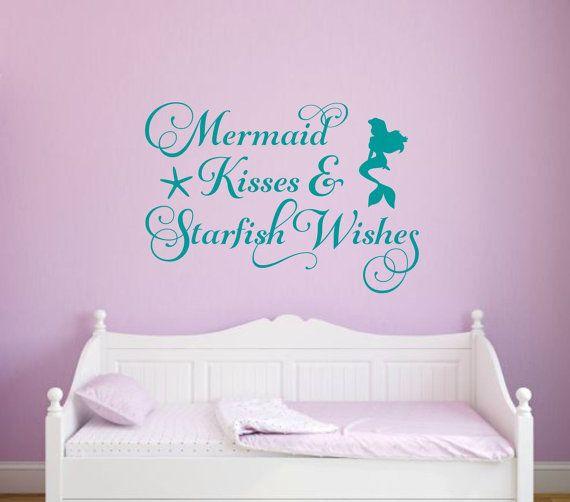 Mermaid Wall Decal Mermaid Kisses And By RunWildVinylDesigns Part 62