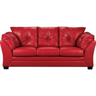 Max Faux Leather Sofa - Red | The Brick