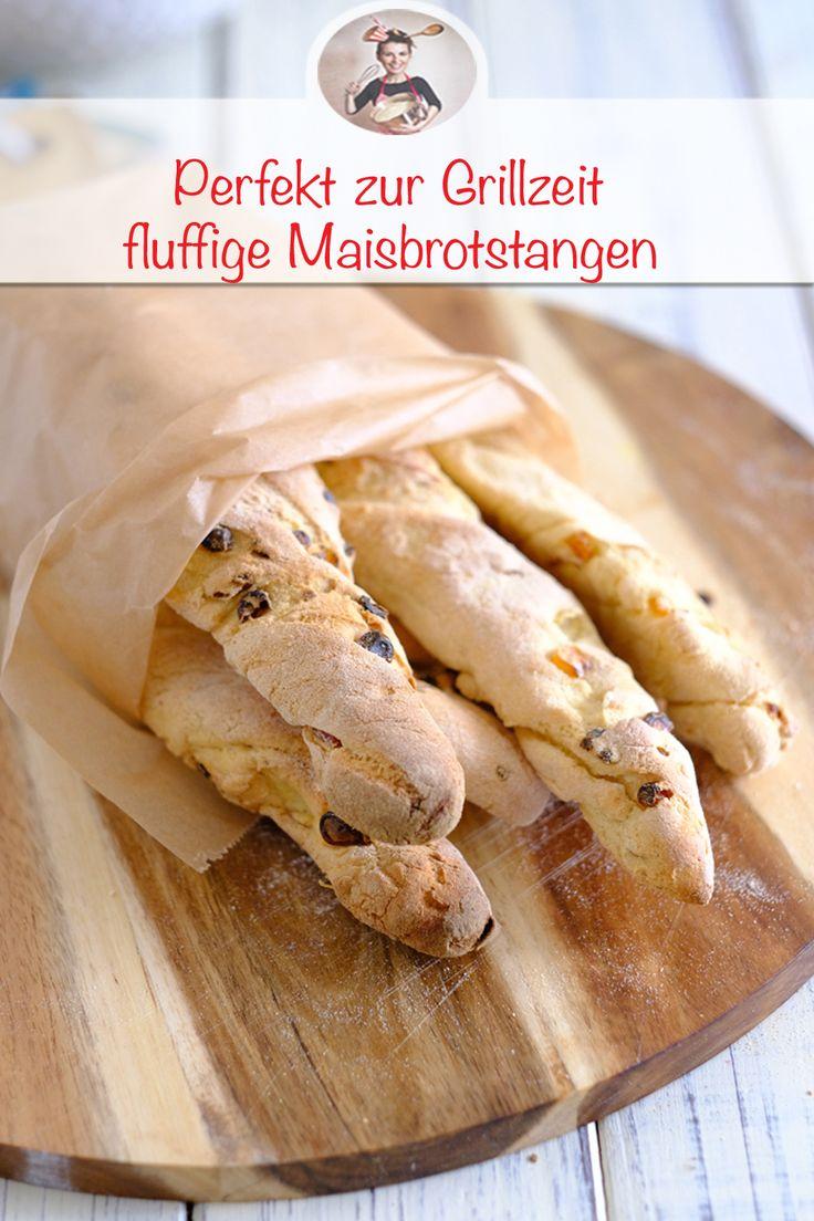 Maisbrotstangen- Ideal zum Grillen als Beilage   – MEINE Rezepte aus der Küche