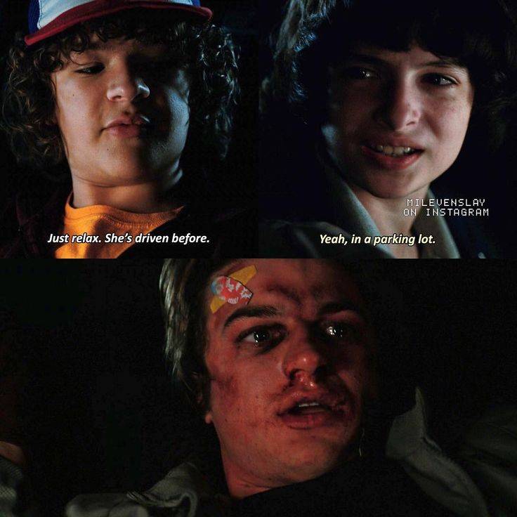 """6,621 Likes, 113 Comments - Stranger Things (@milevenslay) on Instagram: """"[2x09] Lol — Steve, Mike or Dustin? — Give credit when using"""""""
