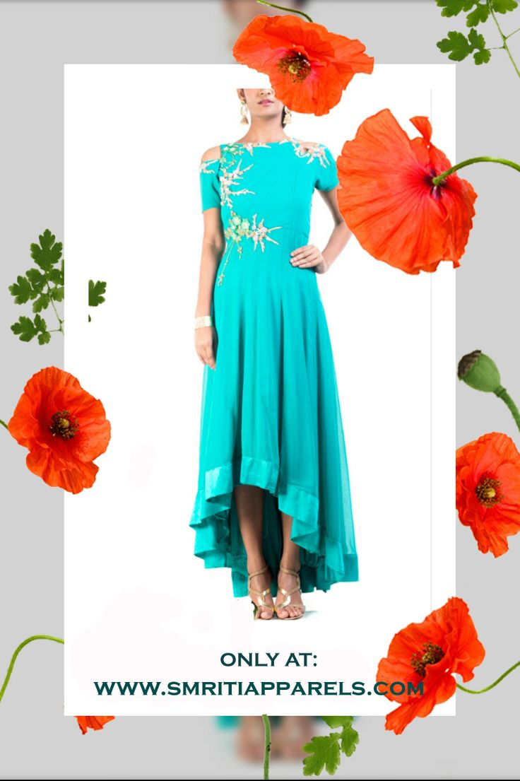 OH THE FLORAL FRENZY! Shop our latest Spring Summer collection! Featuring Teal green high low dress, designed by Anushree Agarwal available exclusively at our website. Product link: http://www.smritiapparels.com/p/3…/teal-green-high-low-dress Log on to our online store and customize your order to get the perfect fit! Whatsapp us on: +919831342574 CASH ON DELIVERY AVAILABLE!! WE SHIP WORLDWIDE!