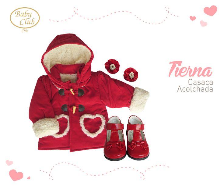 Casaca, Zapatitos y Accesorios Dulces corazones by Baby Club Chic.