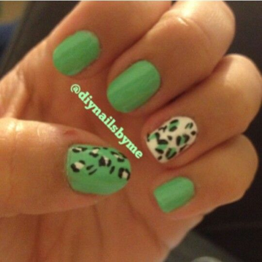 53 best nails i have done myself images on pinterest bricolage diy green cheetah nails solutioingenieria Choice Image
