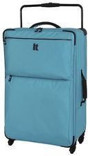 IT Luggage World's Lightest 4 Wheel Large Check Suitcase - Turquoise A