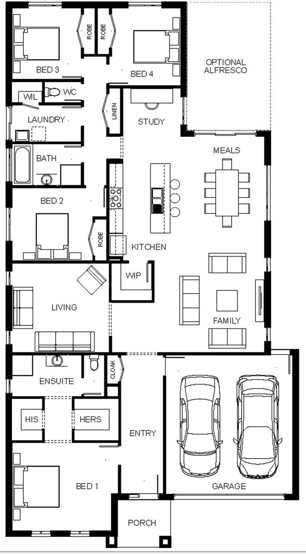 127 best House Plan images on Pinterest | House design, House floor ...