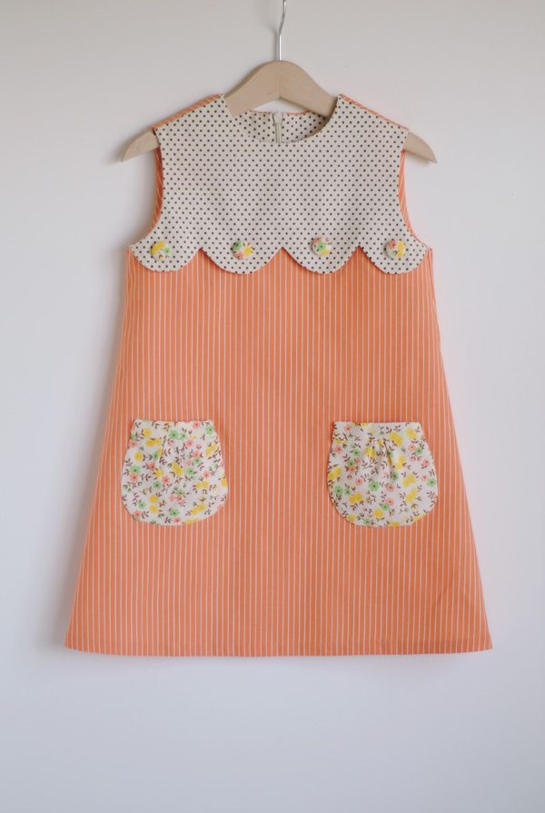 Sweetest Dress with scallop + floral pockets. DIY for an existing tee/dress??