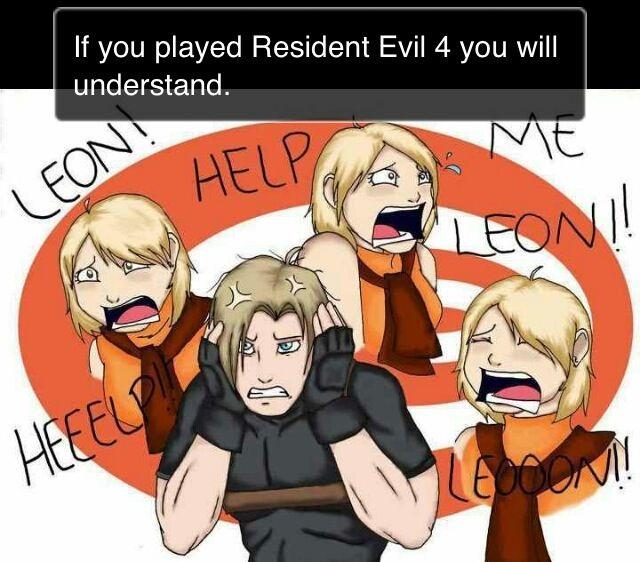¬_¬ yeah, I despise Ashley. - Resident Evil 4