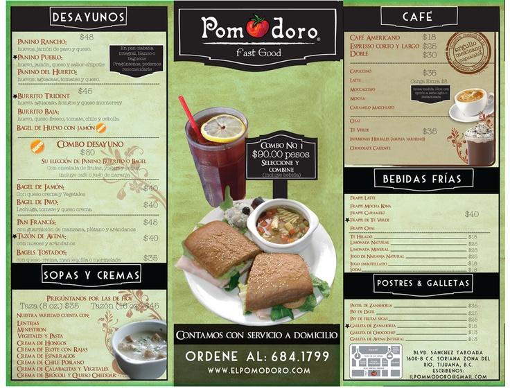 Pomodoro | Fast Food | Restaurante en Tijuana | Donde Comer en Tijuana es Rapido y Bueno.