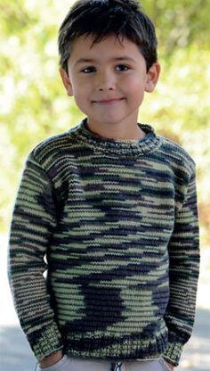 Gratis strikkeopskrift | Flot og sej drengebluse