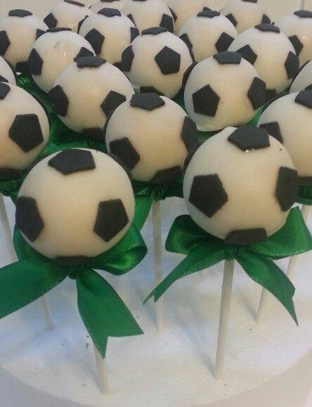 Soccer ball cake pops @hellocakesbyvanessa.com