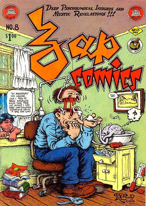 Zap Comix davidcharlesfoxexpressionism.com #robertcrumb #crumb #adultcartoons…
