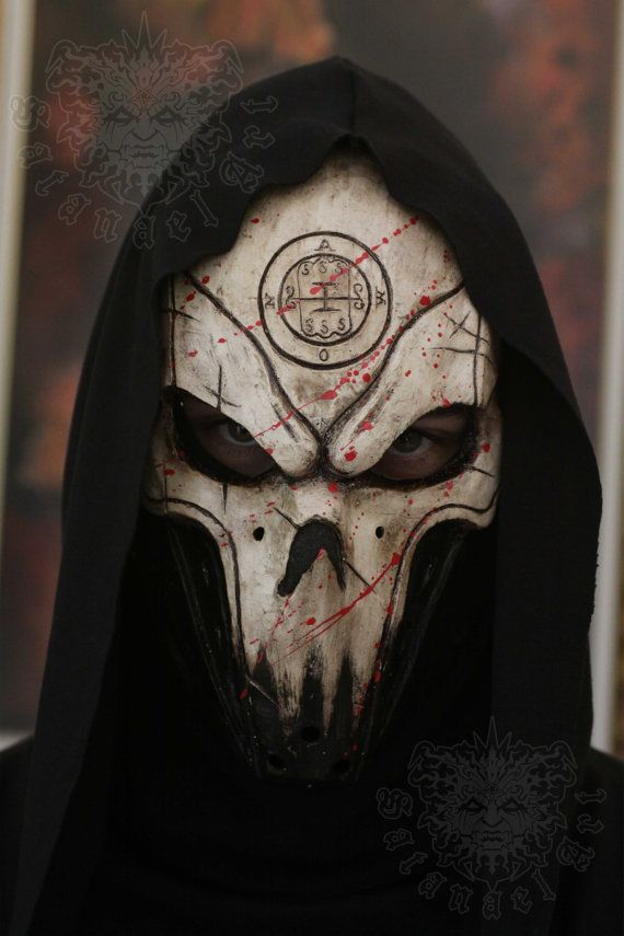 Handmade & paint fiberglass mask. With first layer of gelcoat for more strength of the mask. And 3 layers of fiberglass.    Abaddon is one of the