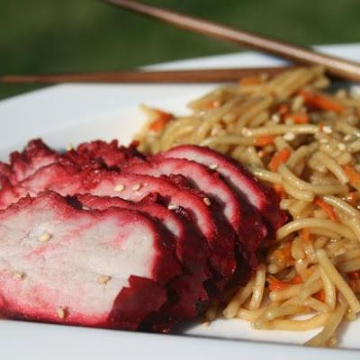 Chinese barbecued pork, leave out red food color.