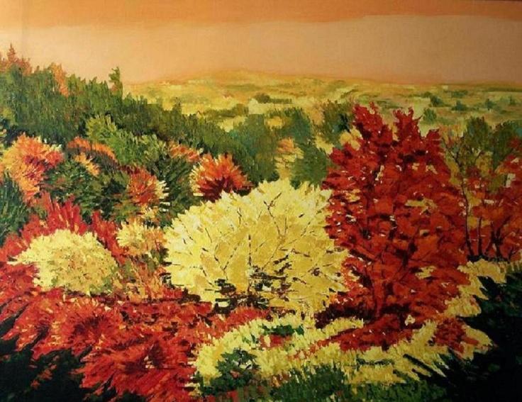 Titulo: arboleda, óleo sobre tela, 116 x 89, 1100 €