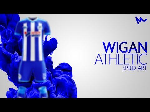 Wigan Athletic Kit Design // Speed Art - YouTube