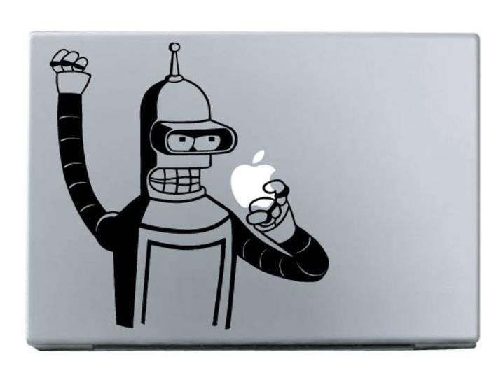 Computer macbook creative decal custom personal sticker futurama