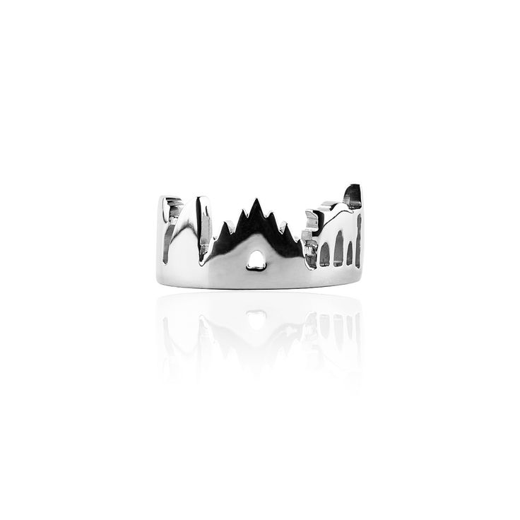 Milan Skyline Ring Silver 925 with antitarnish Treatment  Price: 210€  available here http://www.preziosajewelry.com/shop-preziosa/en/