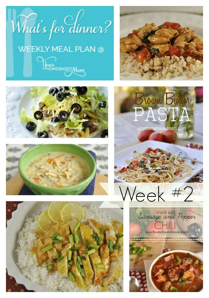 What's for Dinner} Weekly Meal Plan #2 - your homebased mom