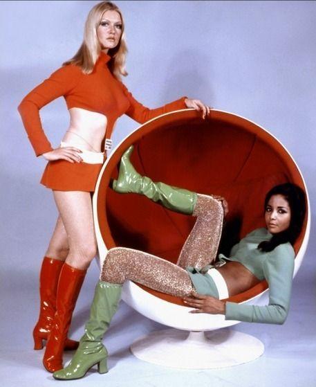 "Eero Aarnio Ball Chair ""Moon Zero Two"" by Roy Ward Baker, 1969"