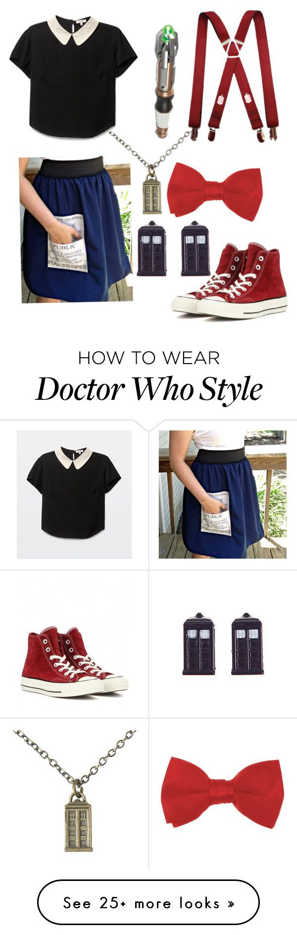 """DOCTOR WHO "" by rosalinapeach on Polyvore featuring Converse"