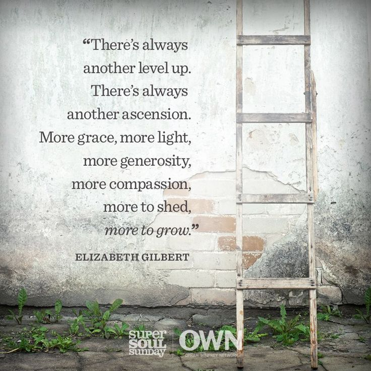 Sometimes I take a step up and slip and fall down the ladder and sometimes I make it up another step  #ElizabethGilbert #Growth