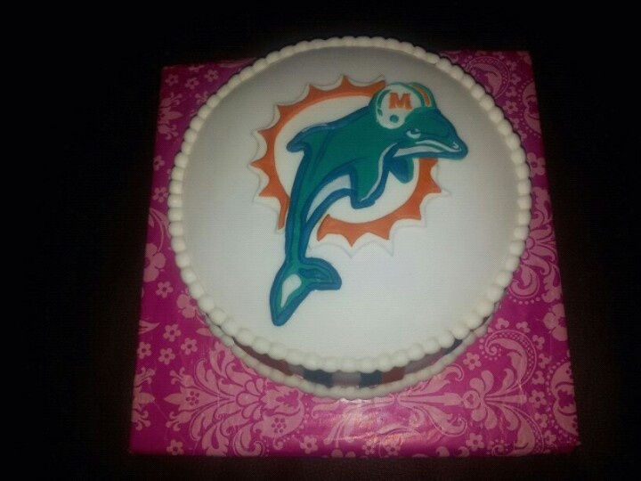 Miami dolphins taart