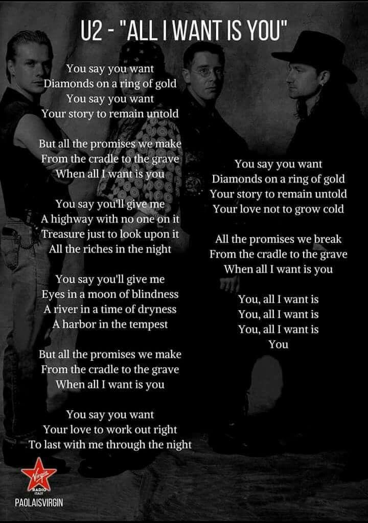 Thank You Lyric Poster U2 Lyrics Songs Of Innocence