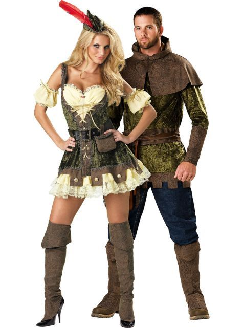 Racy Robin Hood and Edgy Robin Hood Couples Costumes - Party City