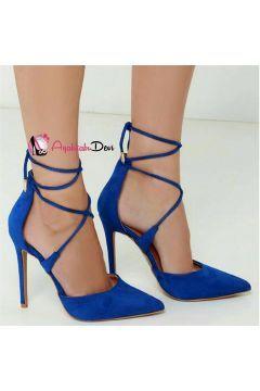 Bernice Saks Mavi Stiletto Ayakkabı