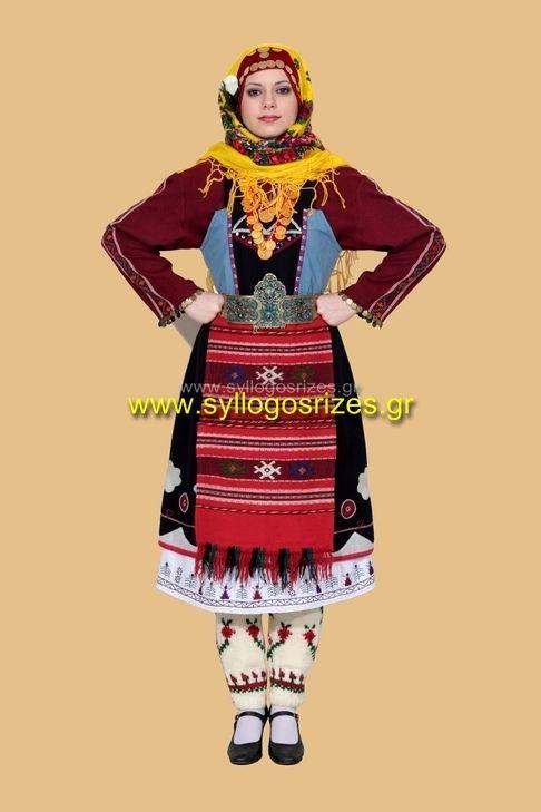 Greek Traditional Costumes - www.syllogosrizes.gr   παραδοσιακή φορεσιά Καρωτής Θράκης - Λαογραφικός Σύλλογος Ρίζες