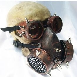 Goggles Gas Mask Set Unisex Steampunk