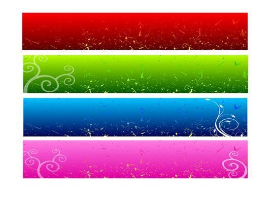 web site photo banner color