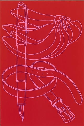 artnet Galleries: Untitled (red-pink) by Michael Craig-Martin from Michael Fuchs Galerie