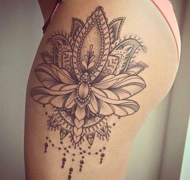 Les 25 meilleures id es de la cat gorie tatouage cuisse sur pinterest tatouages sur le c t de - Tattoo cuisse femme ...