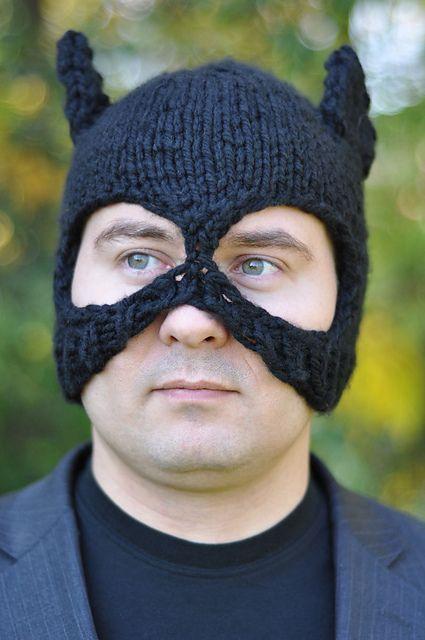 Knit a Batman-Inspired Bat Hat Balaclava!   Knitting ...