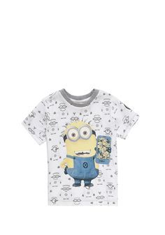 Clothing at Tesco | Universal Studios Despicable Me Minion Phone T-Shirt > tops > Tops & T-shirts > Kids