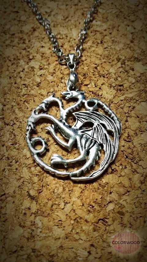 Collana stemma Targaryen - Game of thrones di ColorWood su Etsy