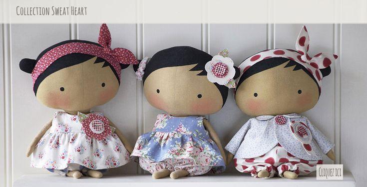 Tissu Patchwork - Tissu Couture, Tilda, poupées